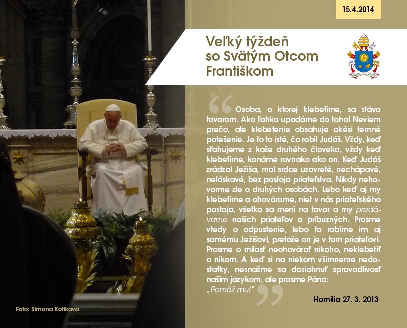 Veľký týždeň so Svätým Otcom Františkom